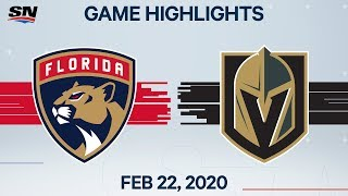 NHL Highlights | Panthers vs. Golden Knights - Feb. 22, 2020