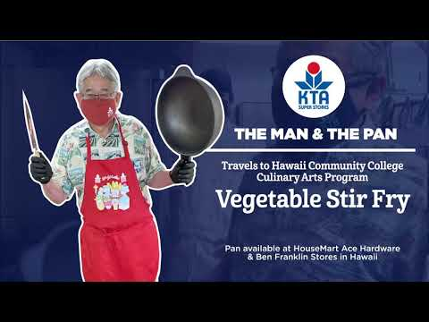 The Man & The Pan travels to @hawaiicc to cook Vegetable Stir-Fry