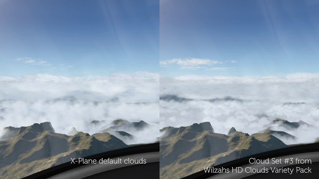 [X-Plane 11] Cloud Comparison – default clouds + Wilzahs ...