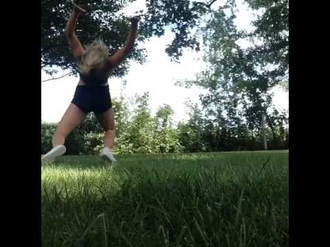 Haileys epic fail at back hand spring, wow!!!!