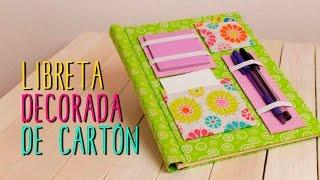 Libreta Decorada ♥ - Decora tus Libretas tipo Scrapbook - Regreso a Clases - Catwalk Cartonaje