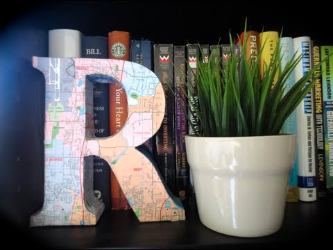 Diy 3d block letters map design room decor youtube for Room design map