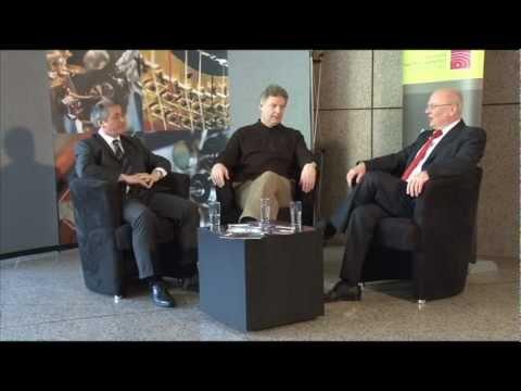 Dr. Ressmann im Gespräch mit Prof. Michael Kaufmann und Karlheinz Steffens