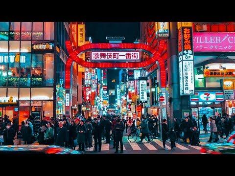 Nightlife Streets In Tokyo Shinjuku 4K ASMR