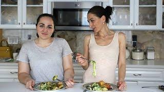 Garlic Baked Potatoes Zucchini Salad Recipe - Heghineh Cooking Show