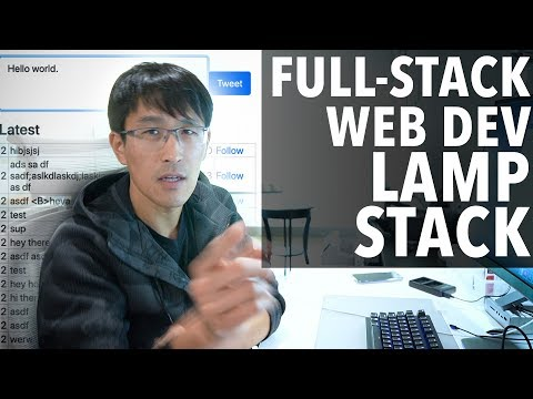 """""""Twitter Clone"""" Full-Stack Web Development project tutorial on LAMP (Linux, Apache, SQL, PHP) thumbnail"""