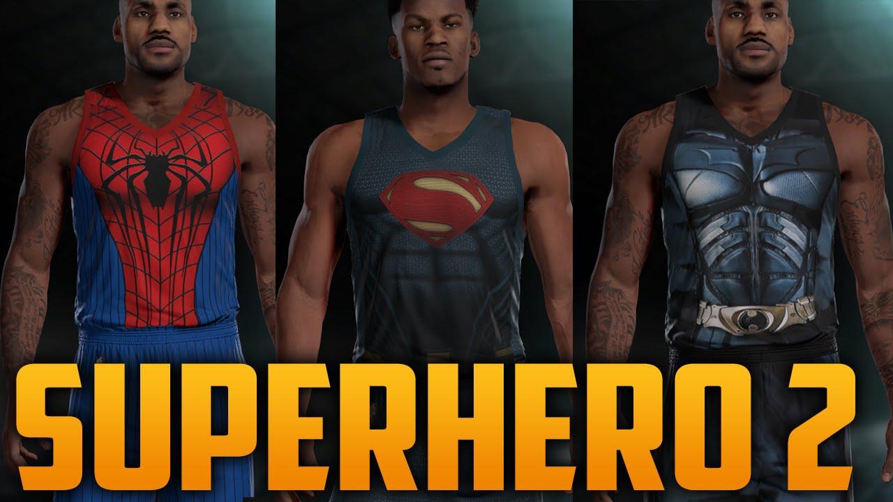 NBA 2K16 Superhero Jersey Pack 2 Tutorial (Batman e56548458