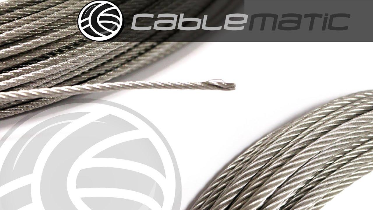 Cables de acero inoxidable distribuido por cablematic - Cable acero trenzado ...