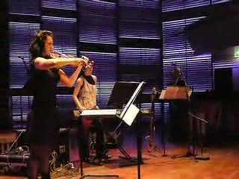 monica germino plays Heiner Goebbels' Bagatellen, Part 6: for amplified violin&distortion, sampler