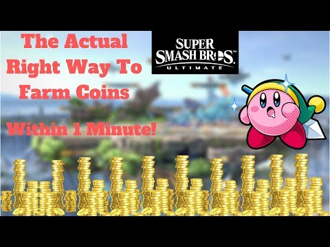 Super Smash Bros Ultimate |~Edited~ Right Way to Get 300-500 Coins w/out even looking (All in 1 min)