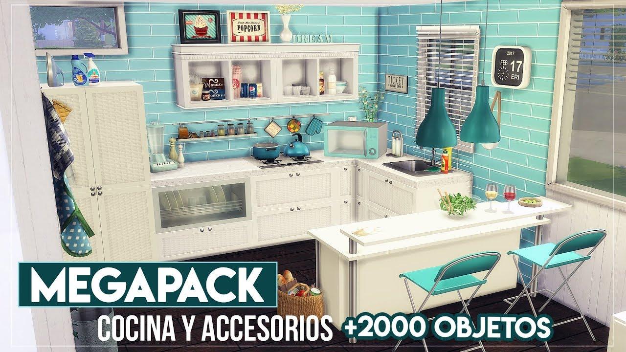 Megapack cocina y accesorios 2000 objetos los sims 4 ms youtube - Objetos de cocina ...