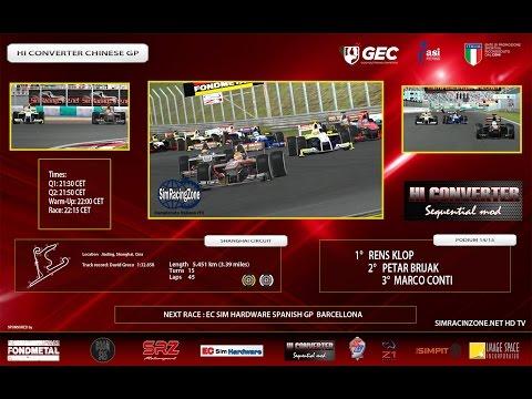 [rFactor2] [Campionato Italiano rF1] ROUND 03: China
