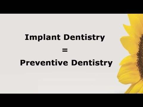 Implant Dentistry = Preventive Dentistry