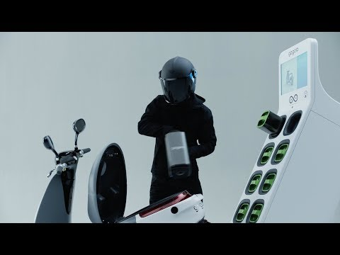 IFA 2017: Panasonic Europe CEO on Panasonic battery cells powered e-scooter Gogoro riding onto stage