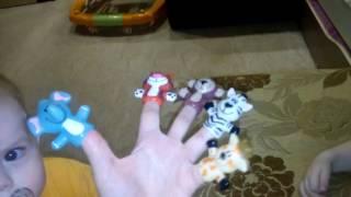 Песенка про пальчики. Животные Африки/A song about fingers. Animals of Africa