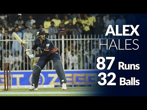 Alex Hales unbeaten 87 from 32 balls