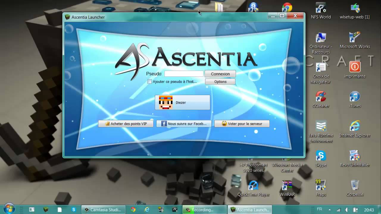 ascentia launcher minecraft