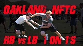 Oakland RB vs LB 1 on 1's | 2014 Nike Football Training Camp