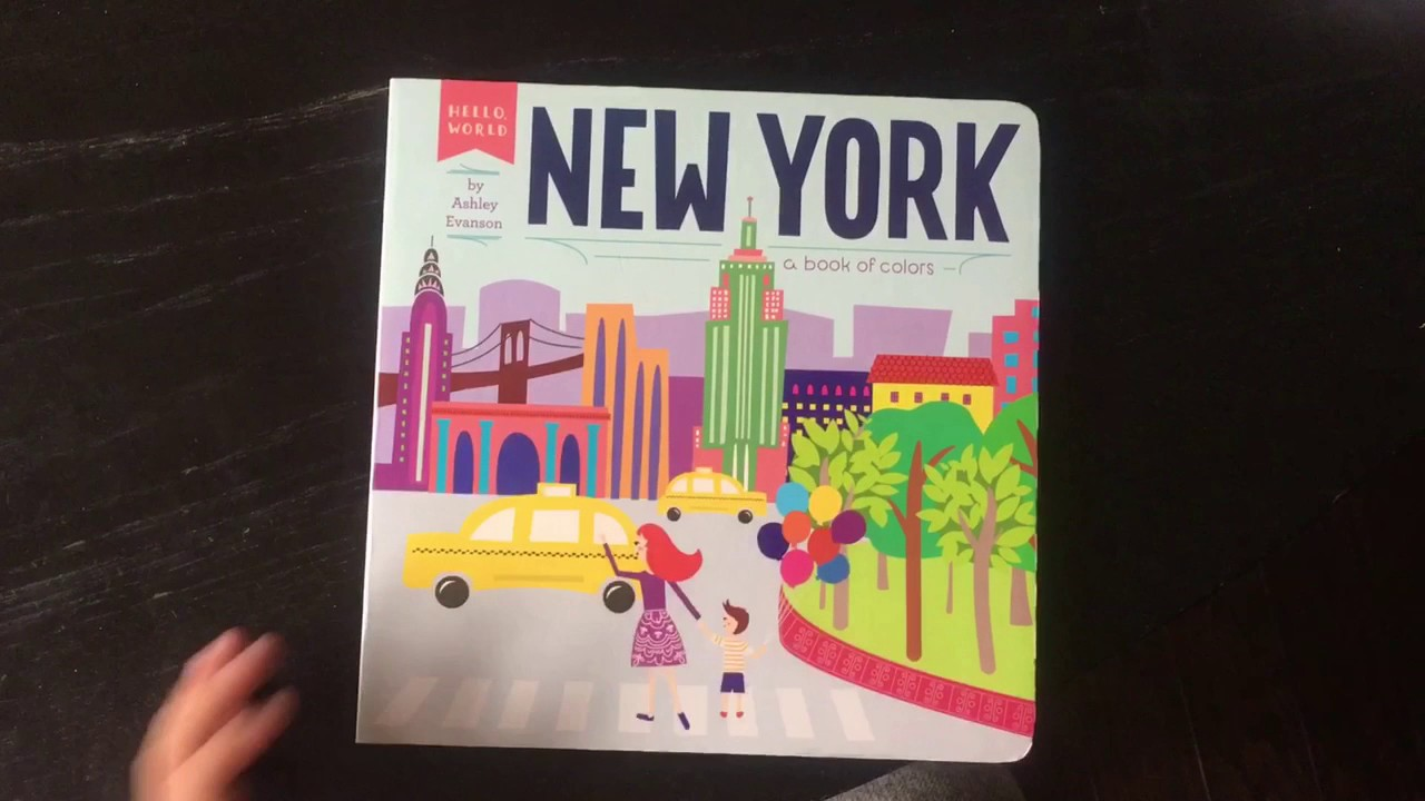 New York - children\'s english book of colors 유아 영어 책 뉴욕에 ...