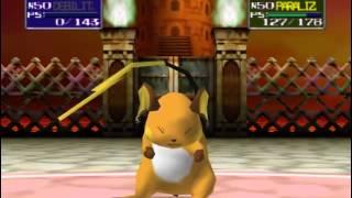 Pokémon Stadium: Combate final contra el Campeón.