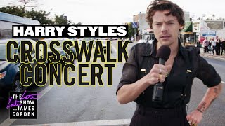 Download Harry Styles Performs a Crosswalk Concert Mp3 and Videos