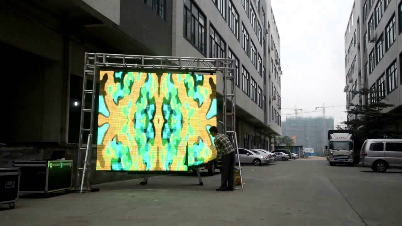 How To Install Flexible Led Display Panel P16 Outdoor Led