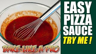 Easy No Fail Pizza Sauce Recipe - Authentic Recipe