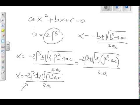 Formula ridotta per le equazioni di secondo grado youtube - Tavola di tracciamento secondo grado ...