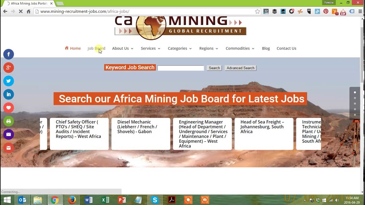 How to search for CA Mining Jobs in Africa Mining Recruitment