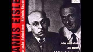 Kathe Kühl - Als ich dich gebar (Hanns Eisler)