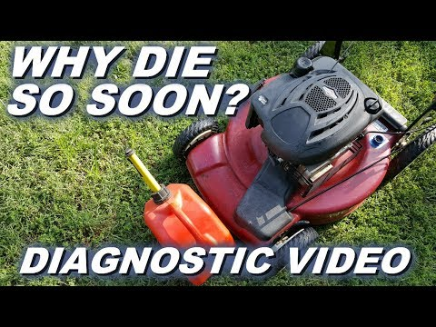 Diagnosing why Lawnmower dies afters only a few minutes of running.