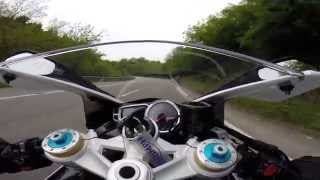 Rodage Triumph Daytona 675 R 2014 1er essai GoPro Hero3+ 1080p