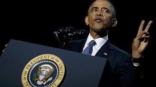 «Да, мы смогли» — Барака Обама попрощался с избирателями(«Да, мы смогли» — лейтмотив прощальной речи уходящего президента США Барака Обамы. Он выступил перед своим..., 2017-01-11T04:41:42.000Z)