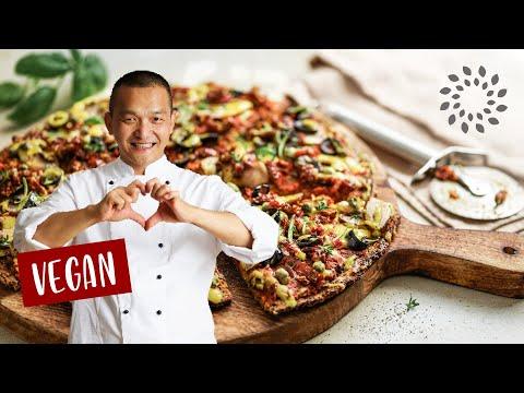 Pizza aus Zucchini