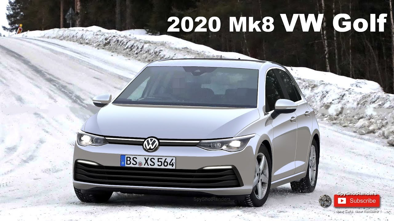 2020 Mk8 Volkswagen Golf Spy Shot Render Preview Youtube