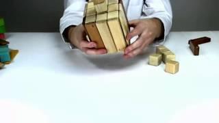 Building A Dreidel Out Of Tegu - Construction For Children