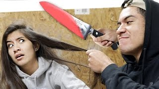 EXPERIMENT Glowing 1000 degree KNIFE VS HAIR & Yeezys (Satisfying Compilation)