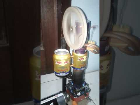 Great cooling handmade high rpm thin can stirling engine