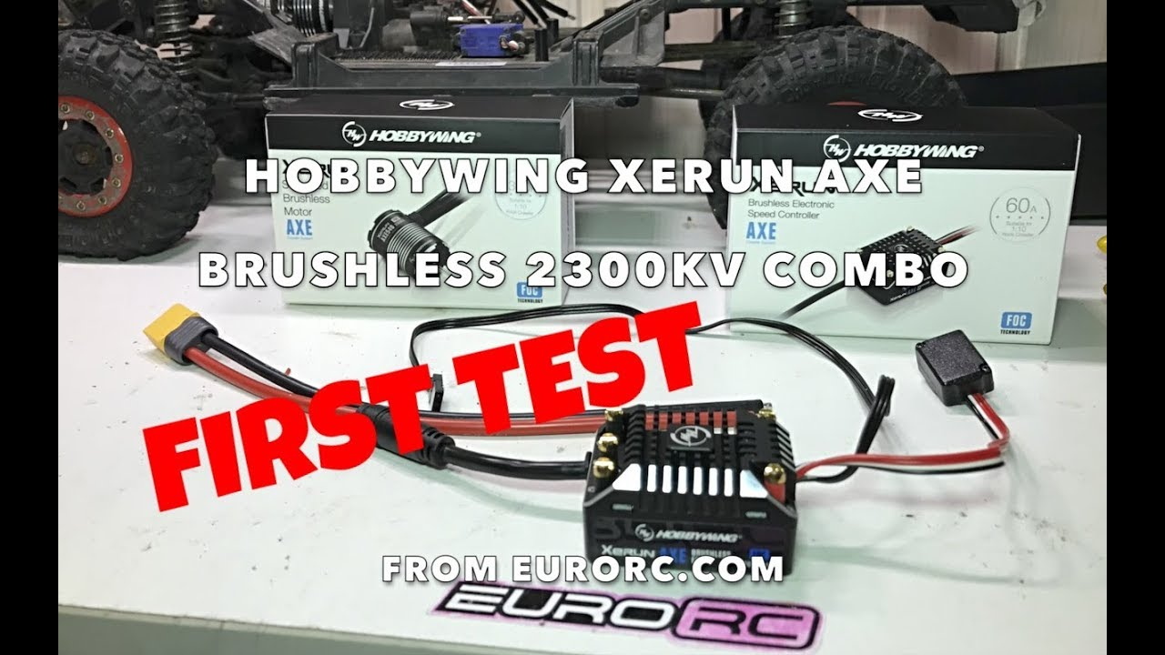 Review Hobbywing Xerun AXE Crawling Combo | EuroRC com