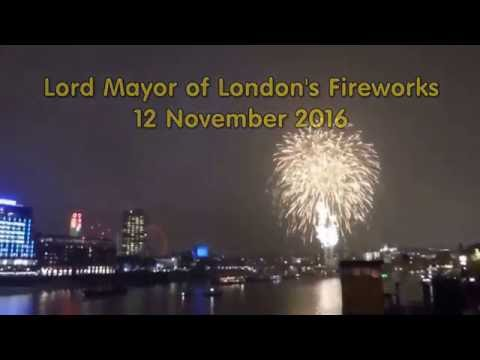 Lord Mayor London Fireworks 12Nov2016