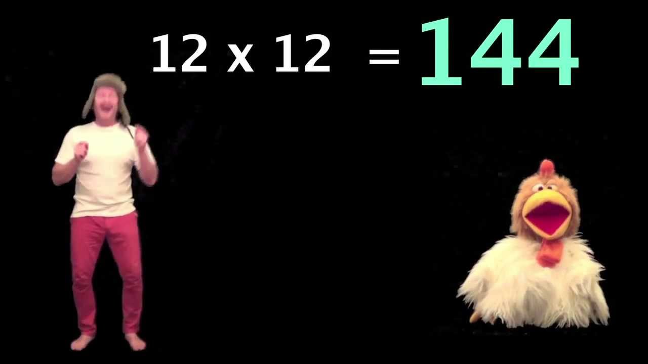 12 x table for kids times tables songs 1 12 funny