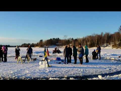 Ice Carousel, Merry-go-round on Frozen Minnesota Lake