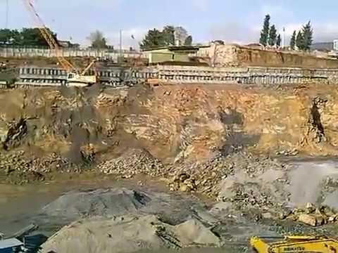 Kartal Dap Yapı İstanbul Marina Projesi Şehir İçi Patlatmalı Temel Kazı Çalışması
