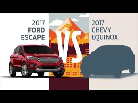2017 Ford Escape vs 2017 Chevy Equinox  Model Comparison  YouTube