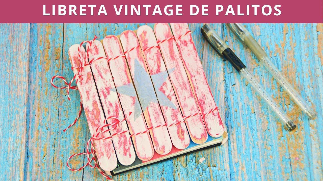 Libreta vintage con palitos