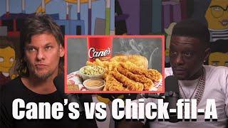Theo Von and B๐osie Badazz: Raising Cane's vs Chick-fil-A