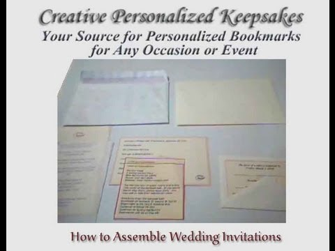 How to Assemble Wedding Invitations - YouTube