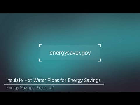 Savings Project: Insulate Hot Water Pipes for Energy Savings