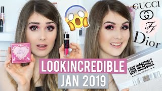 Look Incredible January 2019 Deluxe Box (TOO FACED, GUCCI, DIOR?!) // MissBeautyEmily
