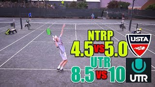 NTRP 5.0 (UTR-10) Tennis Highlights - Andrew vs Brenden Lawrence